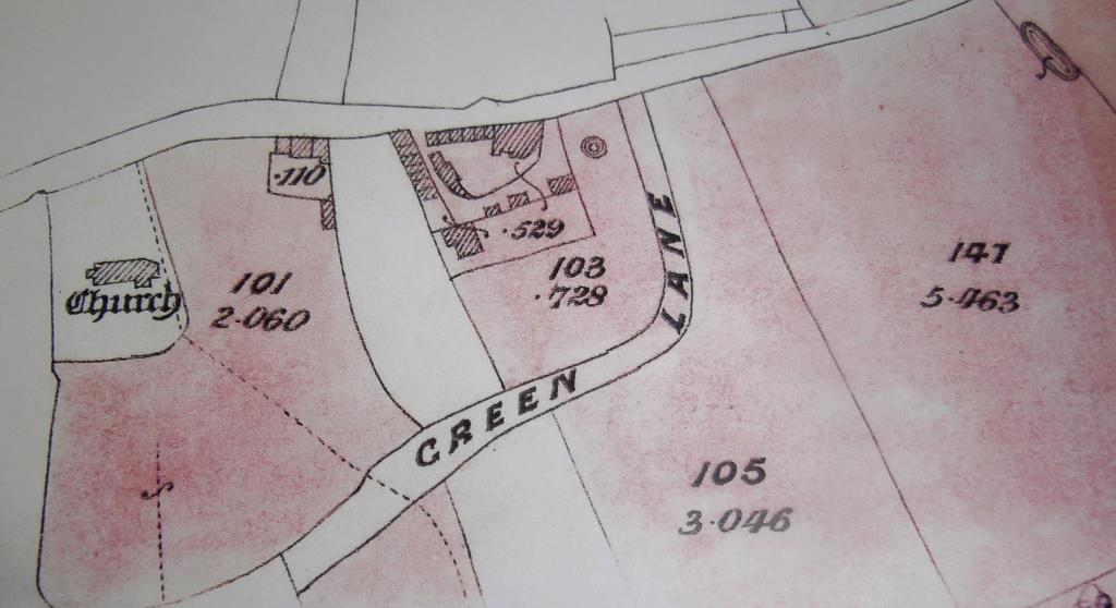 Plan of site - 19th century sale document