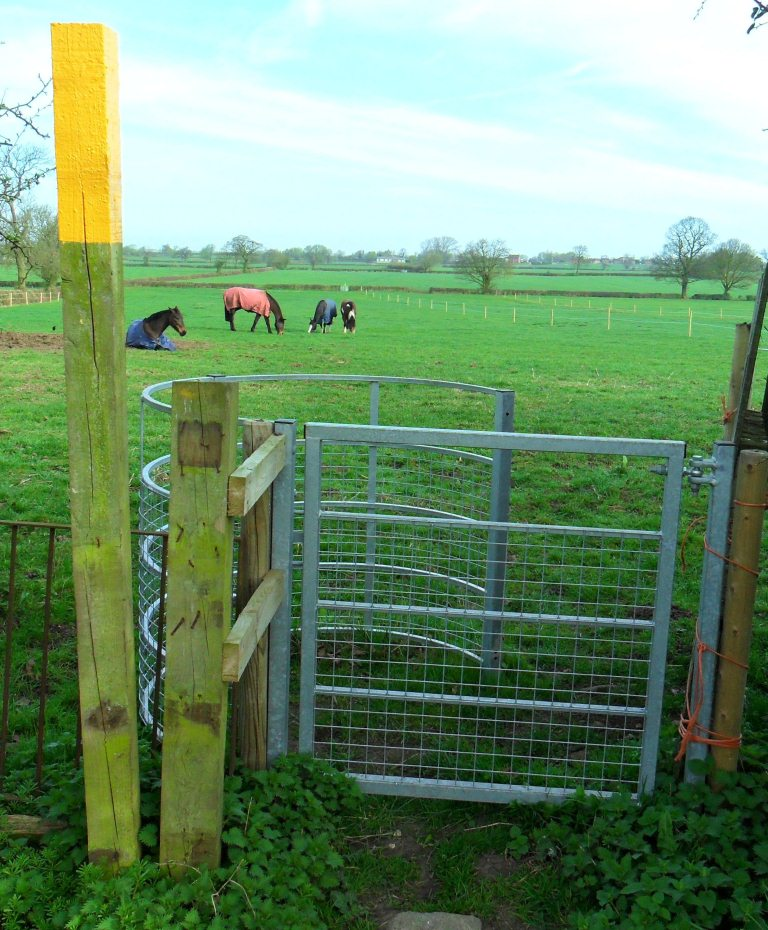 New kissing gate at Manor House Farm